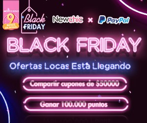 Descuentos Black Friday de Newchic